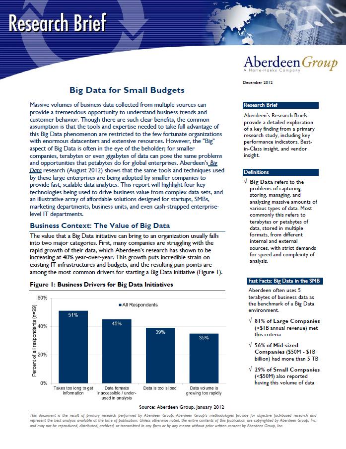 Big Data für kleine Budgets