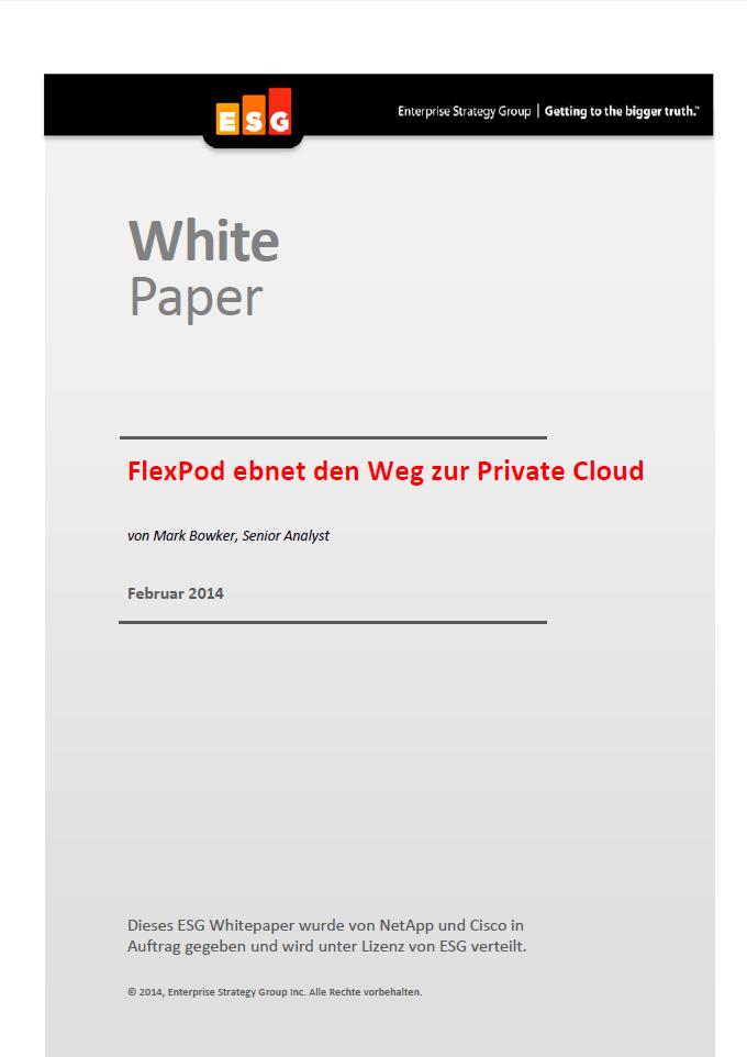 FlexPod ebnet den Weg zur Private Cloud
