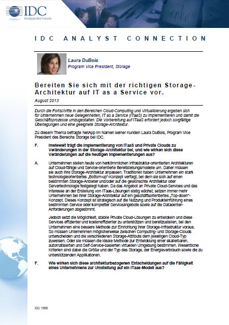 Bereiten Sie sich mit der richtigen Storage-Architektur auf IT as a Service vor