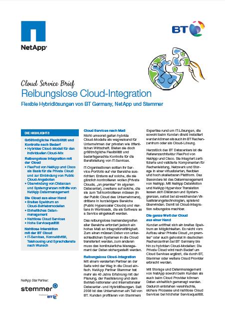 Cloud Service Brief: Reibungslose Cloud-Integration