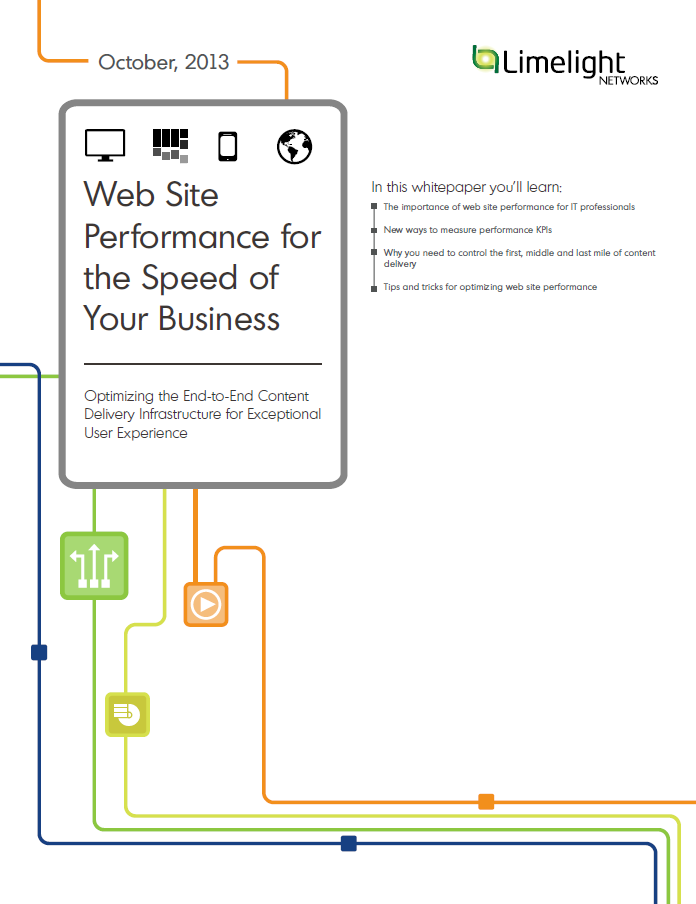 Web Site Performance for the Speed of Your Business