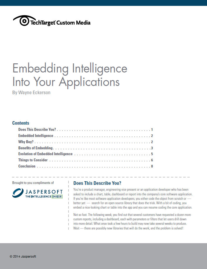 Embedding Intelligence Into Your Applications