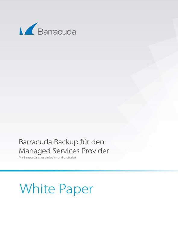 Barracuda Backup für den Managed Services Provider