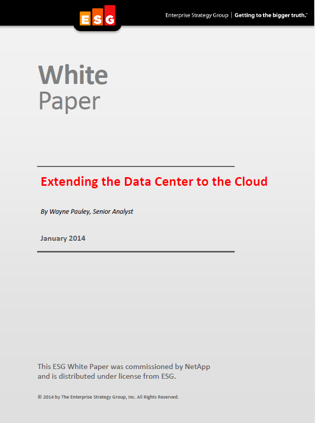 Extending the Data Center to the Cloud