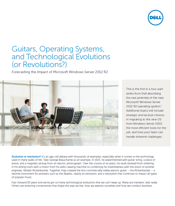 Guitars, Operating Systems, and Technological Evolutions<br> (or Revolutions?)