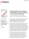 Software-definierter Storage: wirtschaftlich sinnvoll und befreit von der Hardware-Bindung
