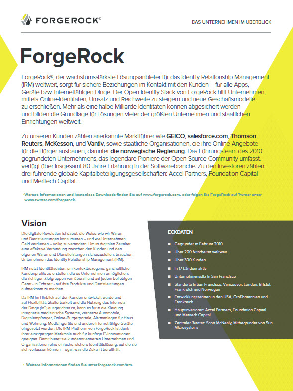 ForgeRock – Identity Relationship Management