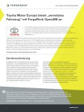 "Toyota Motor Europe bietet ""vernetztes Fahrzeug"" mit ForgeRock OpenAM an"