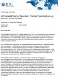 IDC Technology Spotlight: Softwaredefinierter Speicher - Weniger Speicherkosten, bessere Service-Levels