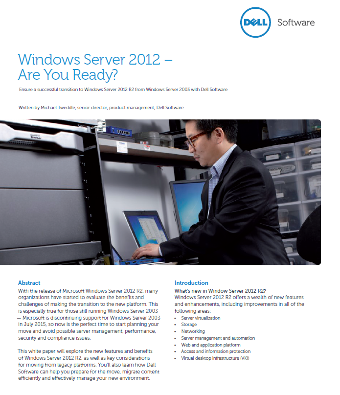 Windows Server 2012 – Are You Ready?