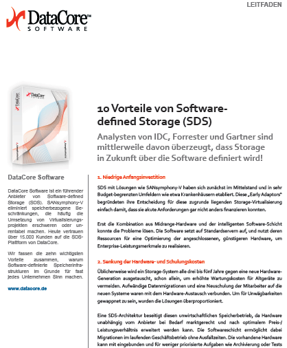 10 Vorteile von Software Defined Storage (SDS)