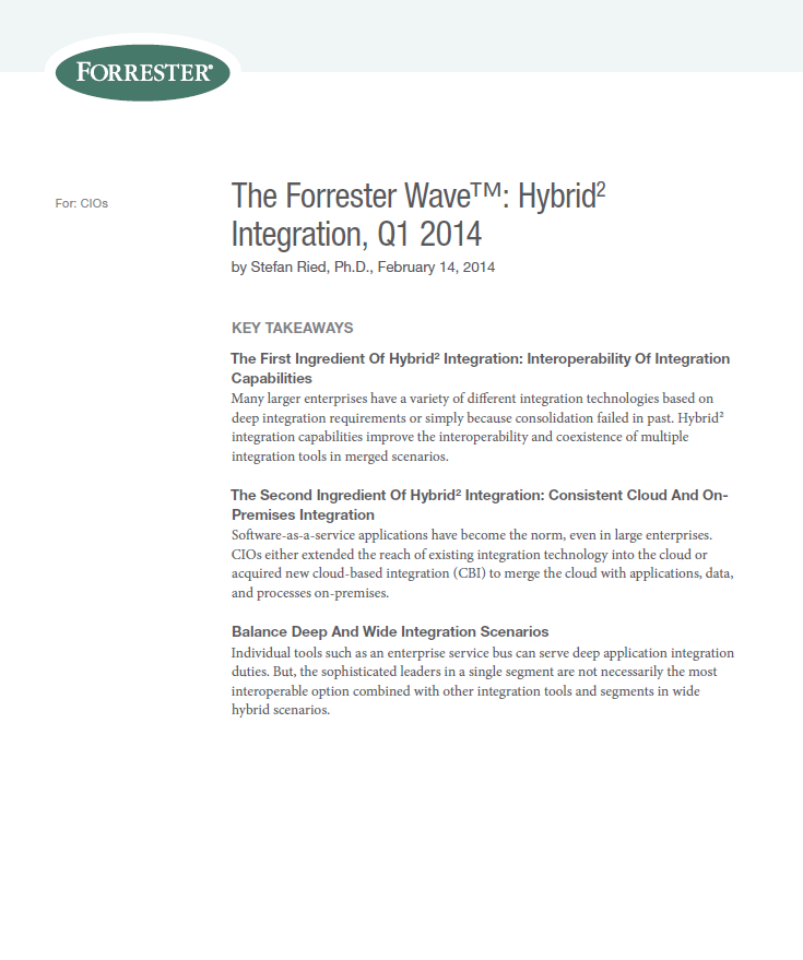 The Forrester Wave™: Hybrid2 Integration Report