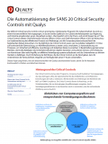 Die Automatisierung der SANS 20 Critical Security Controls