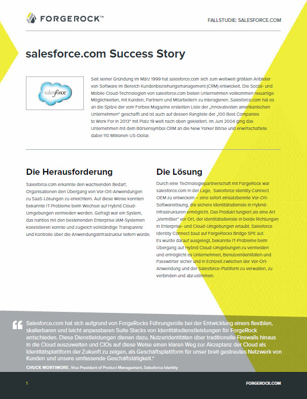 Identity Relationship Management – salesforce.com Success Story