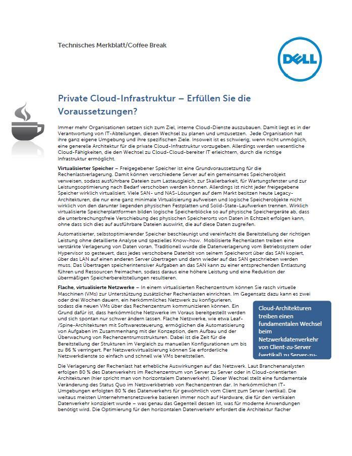 Private Cloud-Infrastruktur – Erfüllen Sie die Voraussetzungen?