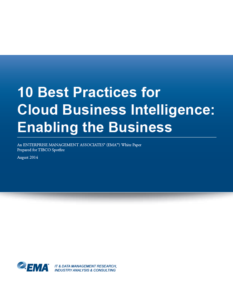10 Best Practices for Cloud Business Intelligence: Enabling the Business