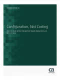 Configuration, Not Coding