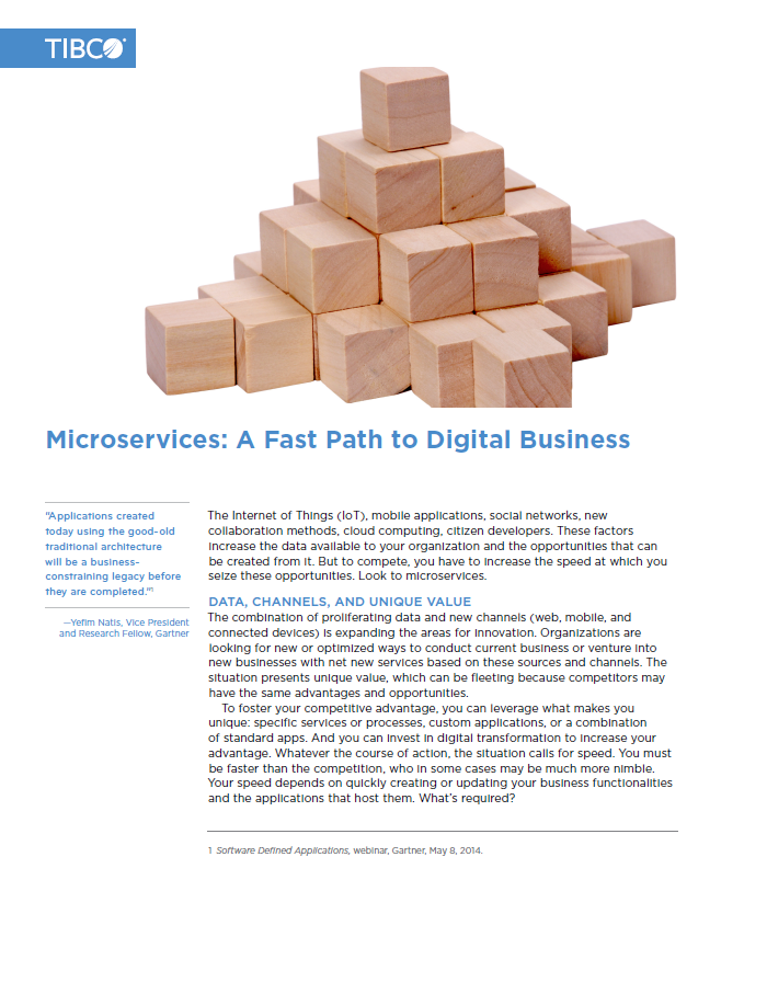 Microservices: A Fast Path to Digital Business