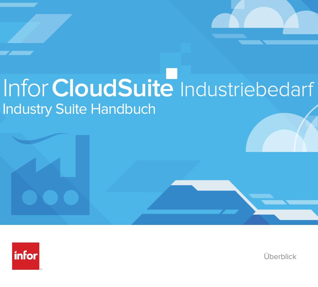 Infor CloudSuite – Industry Suite Handbuch
