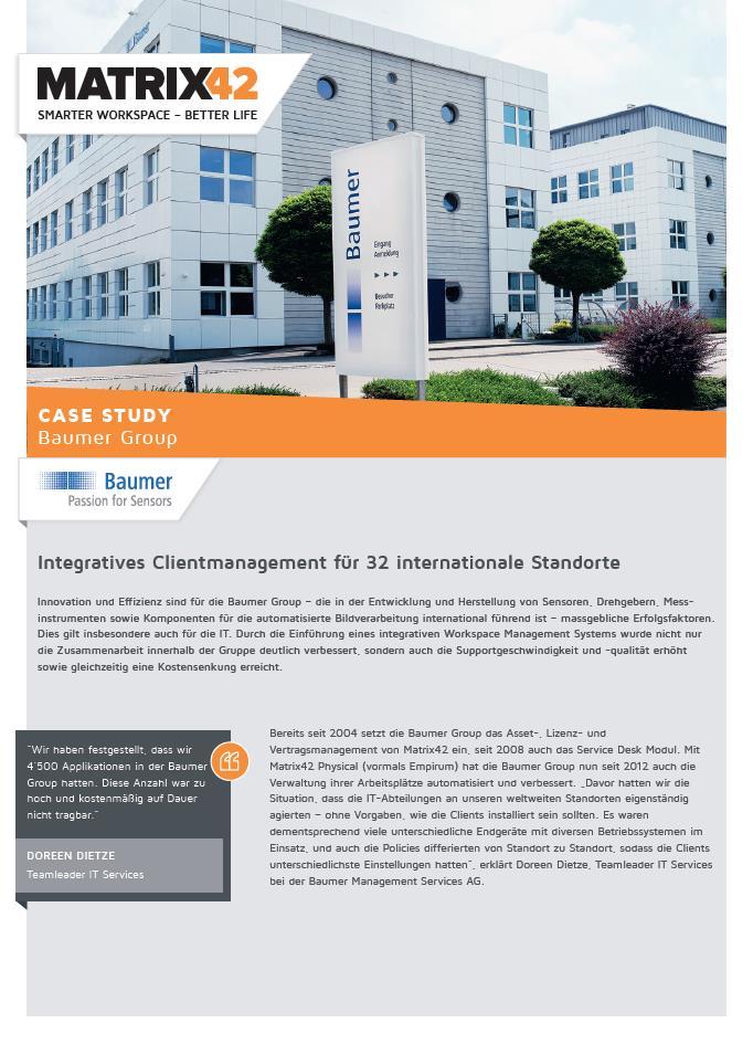 Integratives Clientmanagement für 32 internationale Standorte