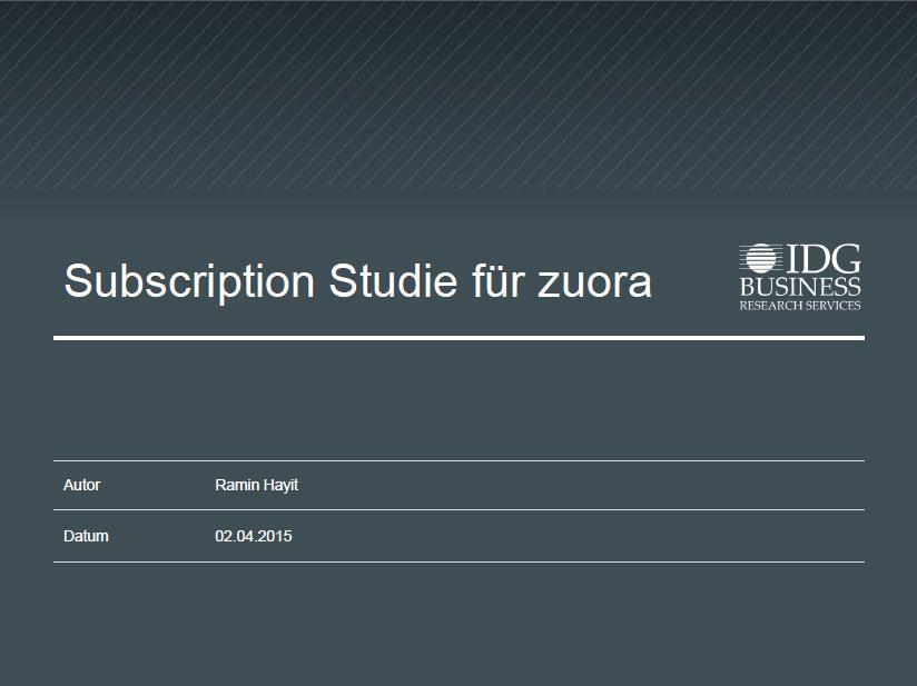Zuora – der Turbo für Ihr Geschäft