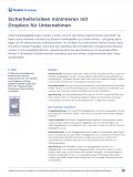 Sicherheitsrisiken minimieren mit Dropbox für Unternehmen