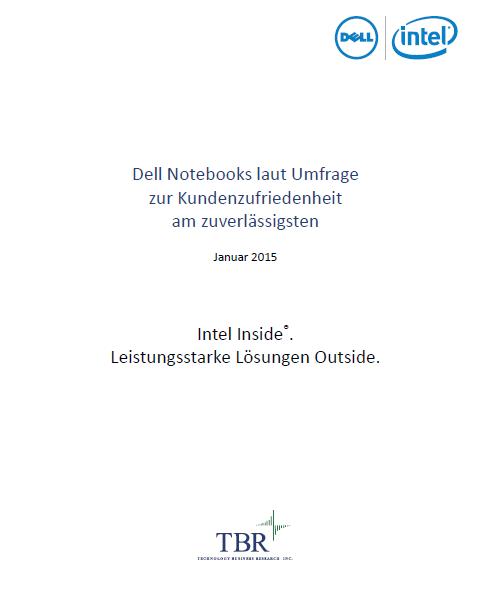 Dell Notebooks laut Umfrage zur Kundenzufriedenheit am zuverlässigsten