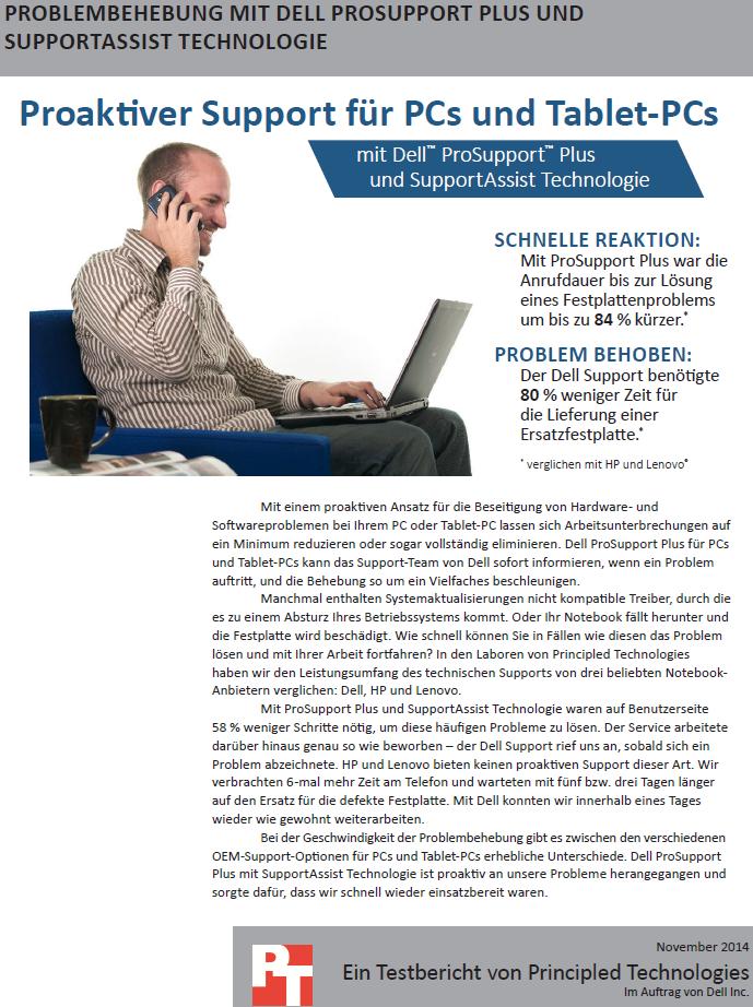 Problembehebung mit Dell ProSupport Plus und Supportassist Technologie