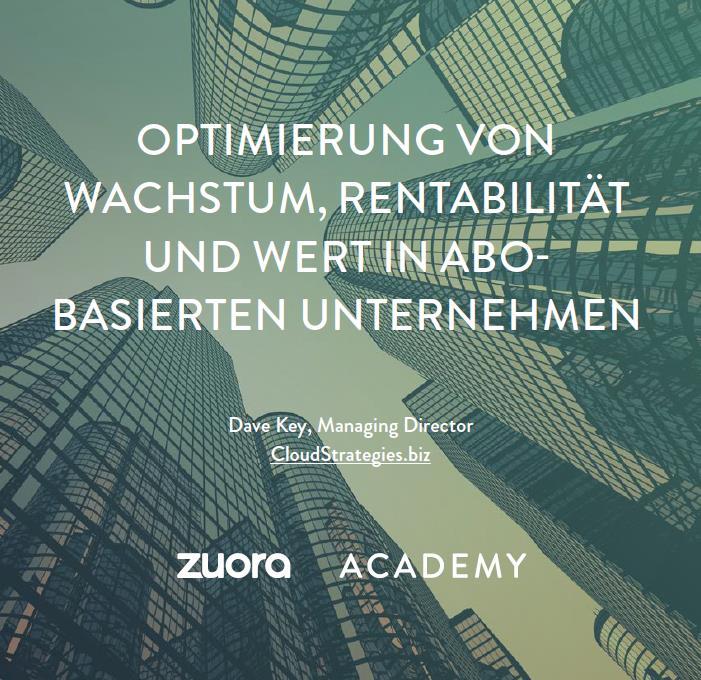 Optimierung von Wachstum, Rentabilität und Wert in abobasierten Unternehmen