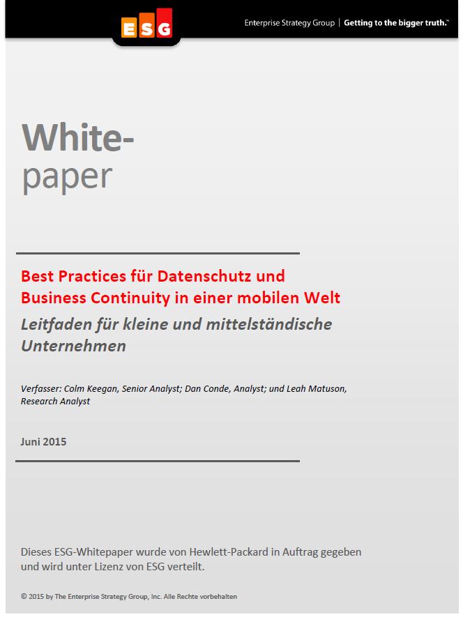 Best Practices für Datenschutz und Business Continuity in einer mobilen Welt –  Ein Leitfaden für kleine und mittelständische Unternehmen