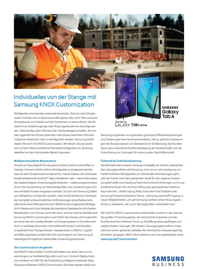 Individuelles von der Stange mit Samsung KNOX Customization