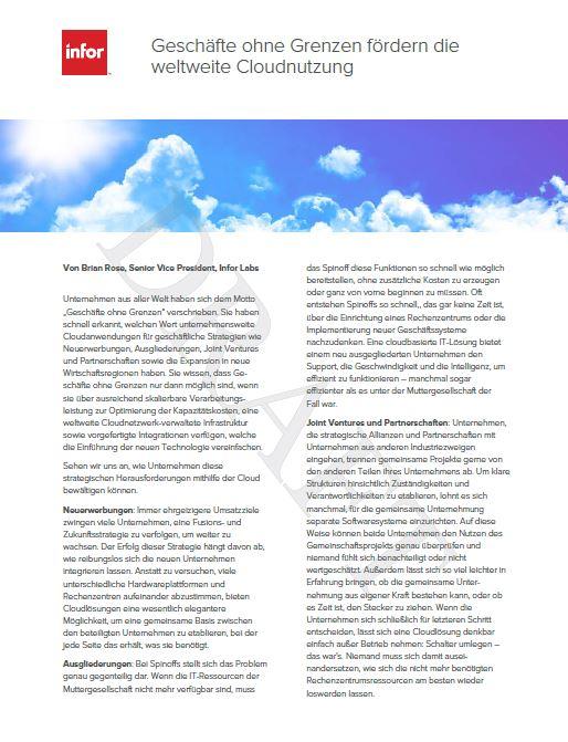 Geschäfte ohne Grenzen fördern die weltweite Cloudnutzung