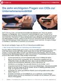 Die zehn wichtigsten Fragen von CIOs zur Unternehmensmobilität