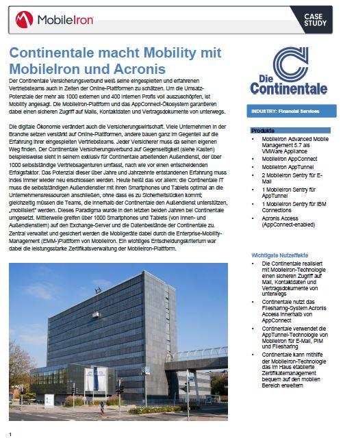 Continentale macht Mobility mit MobileIron und Acronis