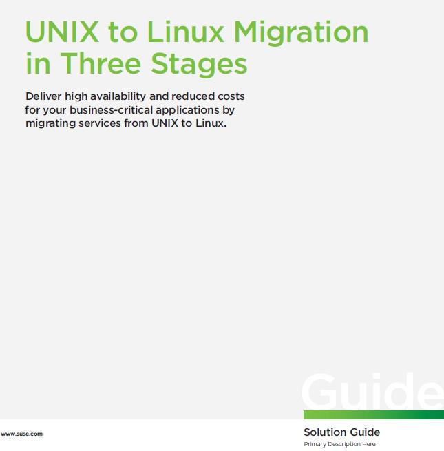 Umzug von UNIX zu LINUX in drei Schritten