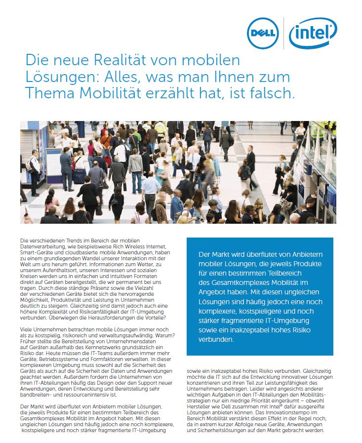 Die neue Realität von mobilen Lösungen: Alles, was man Ihnen zum Thema Mobilität erzählt hat, ist falsch.