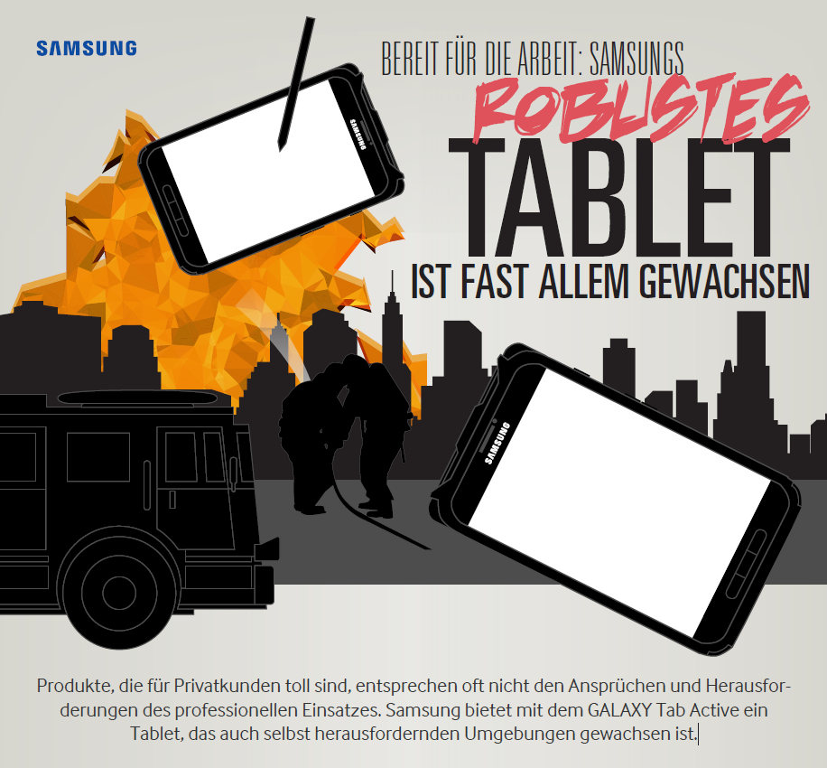 Bereit für die Arbeit: Samsungs robustes Tablet ist fast allem gewachsen