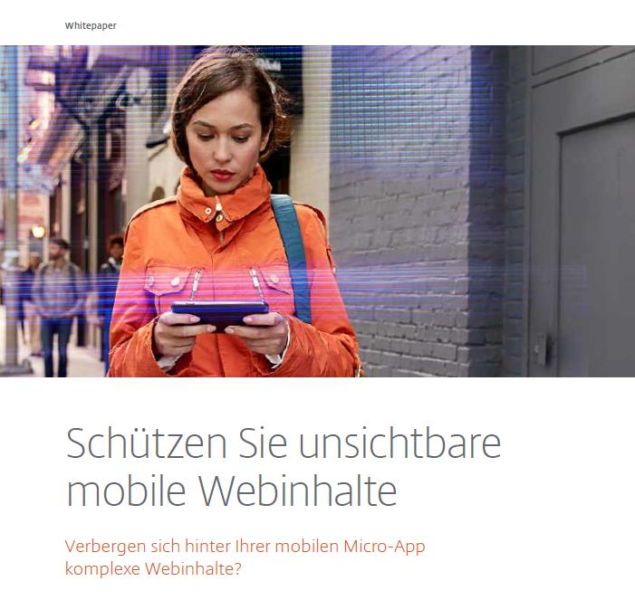 Schützen Sie unsichtbare mobile Webinhalte