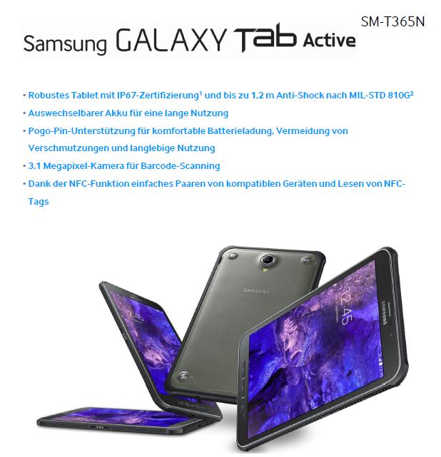 Produktvorstellung: Das Galaxy Tab Active