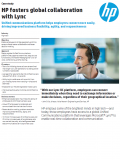 HPE fosters global collaboration with Lync