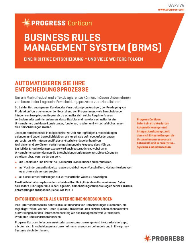 Business Rules Management System (BRMS) – Eine richtige Entscheidung und viele weitere folgen