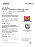 VM-Backup: Veeam vs. herkömmliche Backup-Tools