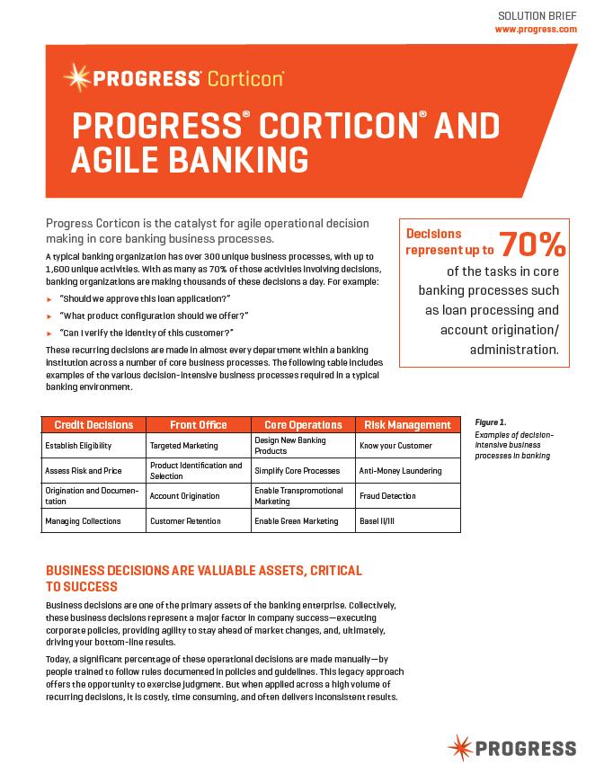 PROGRESS® CORTICON® AND AGILE BANKING