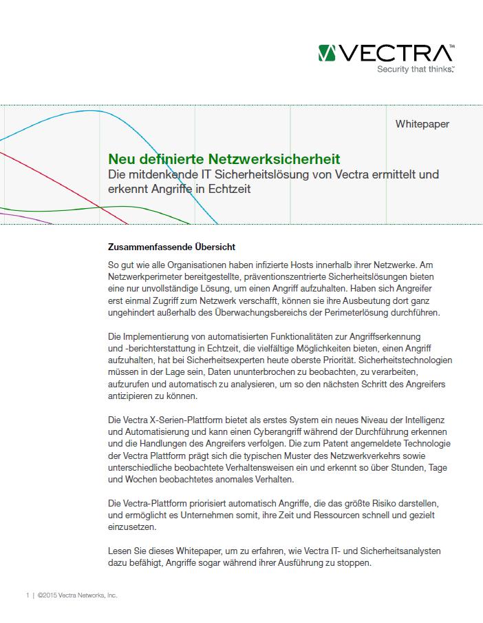 Neu definierte Netzwerksicherheit
