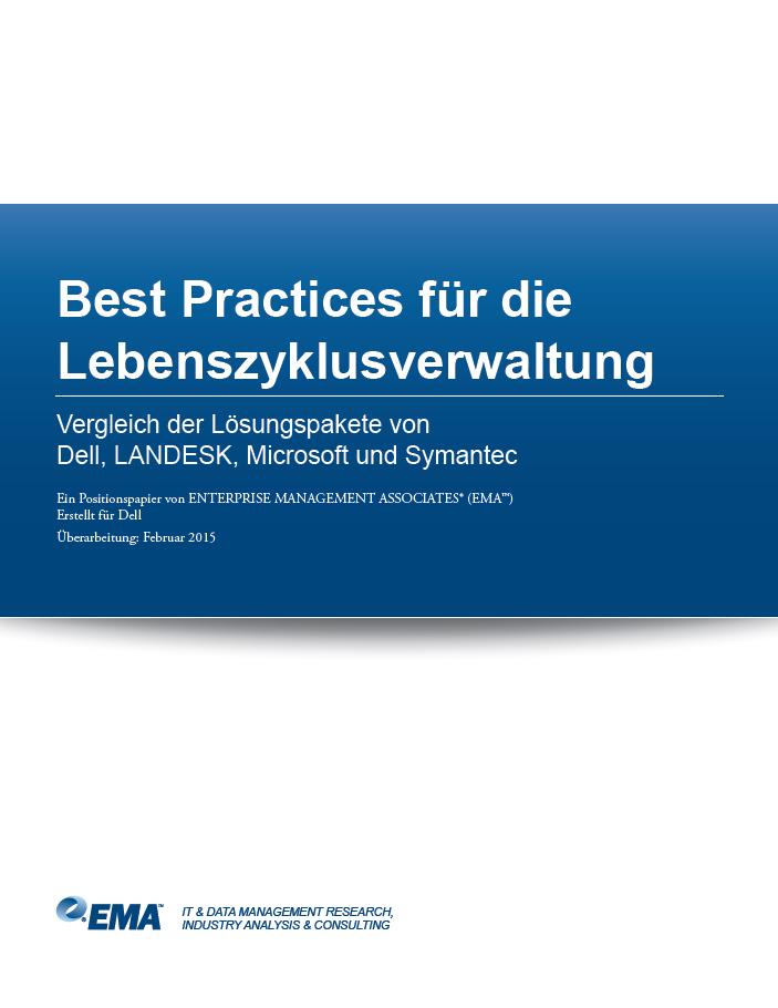 Best Practices für die Lebenszyklusverwaltung – Vergleich der Lösungspakete von Dell, LANDESK, Microsoft und Symantec