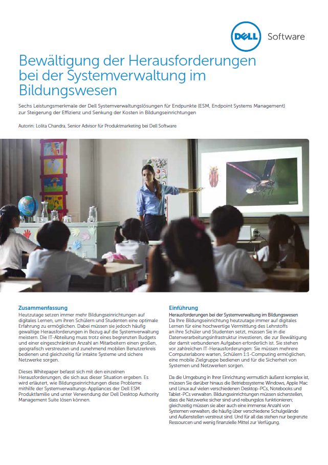 Bewältigung der Herausforderungen bei der Systemverwaltung im Bildungswesen