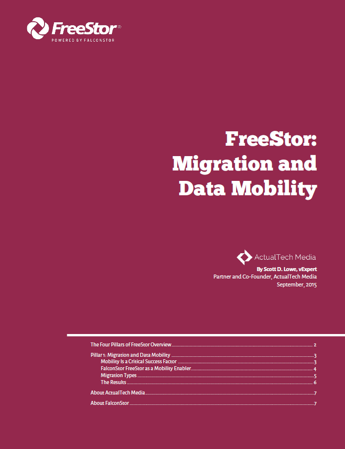 FreeStor: Migration and Data Mobility