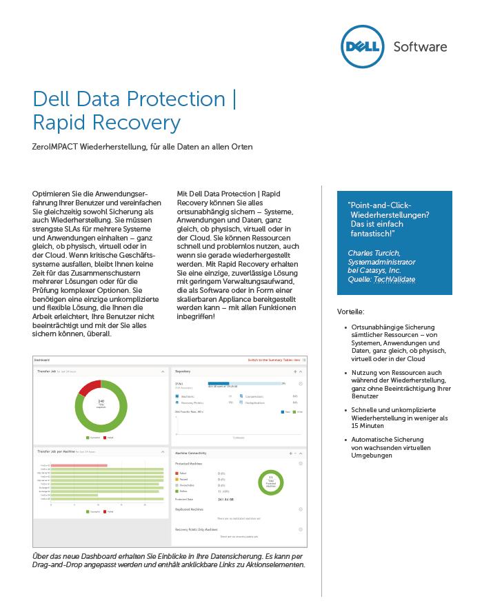 Dell Data Protection | Rapid Recovery – ZeroIMPACT Wiederherstellung, für alle Daten an allen Orten