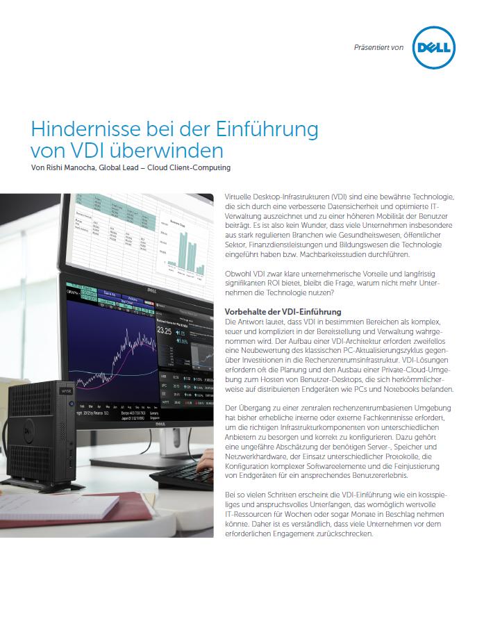 VDI-Einführung ohne komplexe Hürden