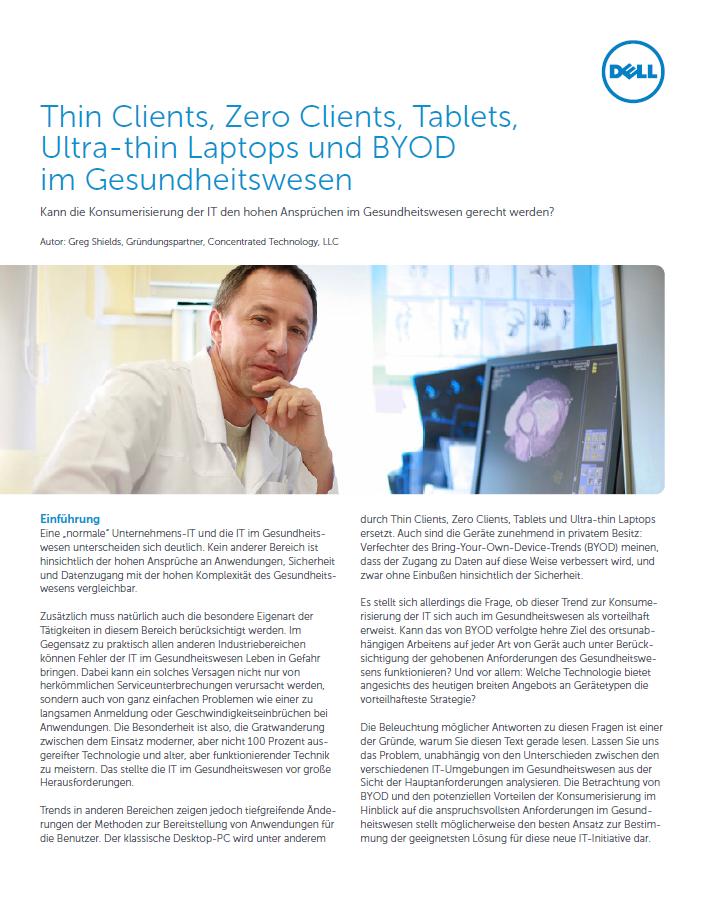 Tablet, Thin Client und BYOD im Gesundheitswesen – kann das funktionieren?